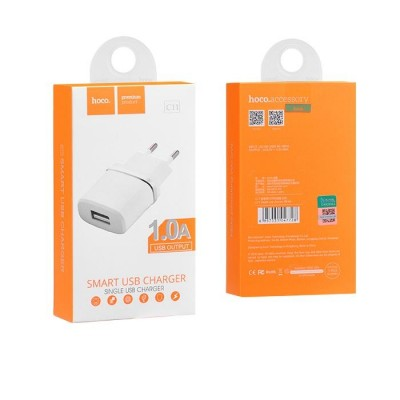 Hoco Charger Adaptor 1.0A White Blister