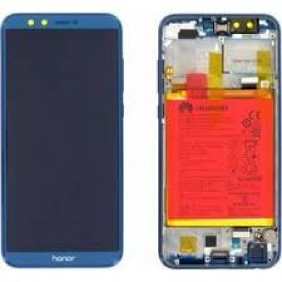 Huawei Honor 9 Lite Frontcover + Lcd + Touch Blue Original (Service Pack)