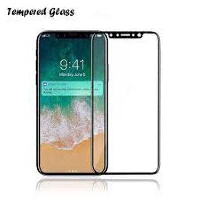 Samsung Galaxy A50 / A505F / A30 / A305F Full Face Full Glue Tempered Glass Black