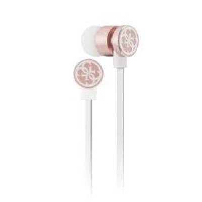 GUESS  Bluetooth Stereo Cable 3.5mm White / Pink