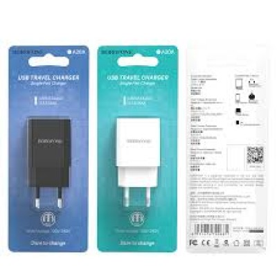 Borofone Charger Adaptor BA20A 2.1A White Blister