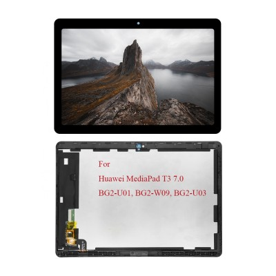 """Huawei Mediapad T3 7"""" 3G / BG2-W09 Frontcover + Lcd + Touch Black Original (Service Pack)"""