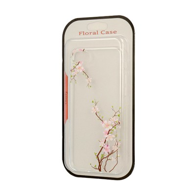 iPhone 7 / 8 Floral Silicone Case Cherry