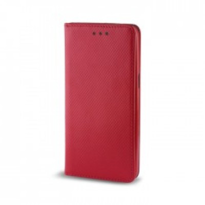 Samsung Galaxy A7 2018 / A8 Plus 2018 Book Magnet Case Red