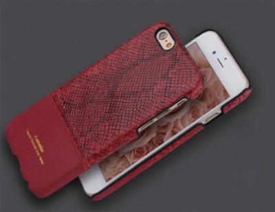 iPhone 6  Plus / 6s Plus Snake Skin Silicone Case Red