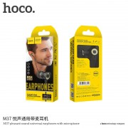 Hoco Pleasant M37 Handsfree Stereo 3.5mm Black Blister