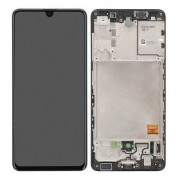 Samsung A415F / Galaxy A41 Frontcover + Lcd + Touch Black Original (Service Pack)