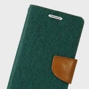 Samsung Galaxy A3 2017 / A320 Book Canvas Case Green