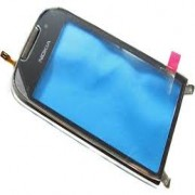 Nokia C7-00 Front Cover + Touch Silver Original