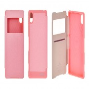 Sony Xperia Z2 / D6503 WOW View Book Case Dark Pink