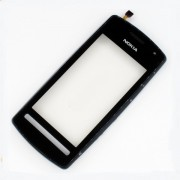 Nokia 603 Front Cover + Touch Black HQ
