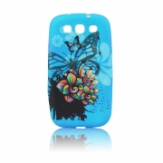 Sony Xperia J / ST26i Desing Silicone Case Blue