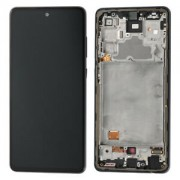 Samsung A725F / Galaxy A72 4G  Frontcover + Lcd Black Original (Service Pack)