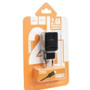 Hoco Charger Adaptor C22A 2.4A Black Blister