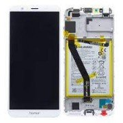 Huawei Honor 7A Frontcover + Lcd + Touch White Original (Service Pack)