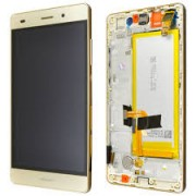 Huawei P8 Lite Frontcover + Lcd + Touch Gold Original (Service Pack)