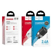 Hoco Charger Adaptor Dual C55A 2.4A Black Blister