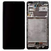 Samsung A426B / Galaxy A42 5G Frontcover + Lcd + Touch Prism Black Original (Service Pack)