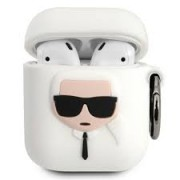 AirPods 1 / 2 KARL LAGERFELD Silicone Case White