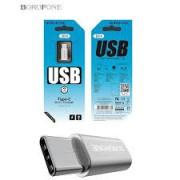BOROFONE Micro Usb to Type C Adaptor Silver Bulk