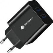 RO&MAN Charger Adaptor x2 DUAL RCO6 2.4A Black Blister