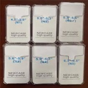 "Universal 5.3""- 5.6"" Silicone Case Transparent"