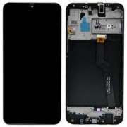 Samsung A105F / Galaxy A10 Frontcover + Lcd + Touch Black Original (Service Pack)