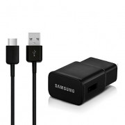 Samsung EP-TA20EBE Fast Charger Adaptor 2.0A + Type C Usb Cable Black Bulk