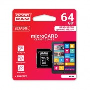 Goodram microSDHC Card 64GB + Adapter Class 10