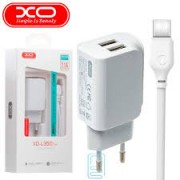 XO Charger Adaptor Dual 2.1A  + Type C Cable White Blister