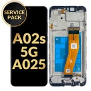 Samsung A025G / A025F / Galaxy A02s Frontcover + Lcd + Touch Black Original (Service Pack)