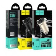 Hoco Car Charger Z30  Adaptor Dual Usb 3.1A Gold Blister