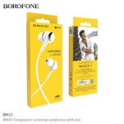 BOROFONE Handsfree BM33 Complacent White Blister