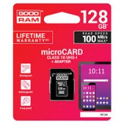 Goodram micro SDHC Card 128GB + Adapter Class 10 100MB/s