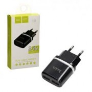Hoco Charger Adaptor Dual C12 2.4A Black Blister