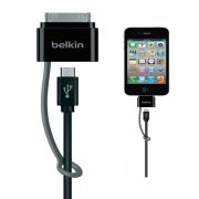 Belkin Adaptor Double Cable with 30-Pin and Micro Usb