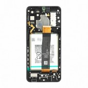 Samsung A326B / Galaxy A32 5G  Frontcover + Lcd + Battery Black Original (Service Pack)