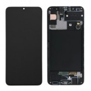 Samsung A307F / Galaxy A30s Frontcover + Lcd + Touch Black Original (Service Pack)