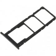 Huawei Honor 8X Sim / Micro SD Tray Holder Black Original (Service Pack)