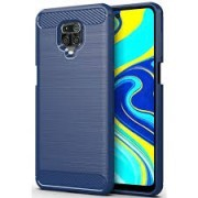 iPhone X / XS Carbon Silicone Case Blue